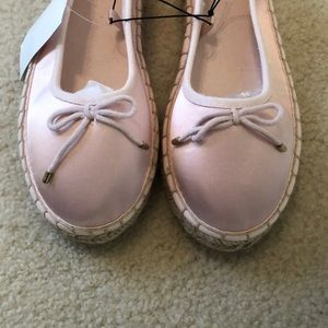NWT H&M pink flats with coir base
